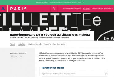Expérimentez le Do It Yourself au village des makerz