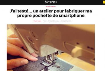 J'ai testé… un atelier pour fabriquer ma propre pochette de smartphone