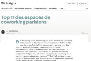 Top 11 des espaces de coworking parisiens